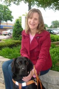 Judy and her first Seeing Eye Dog, Velda
